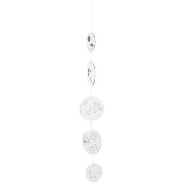 Living-Glaskette Blumen, silber-228161-1