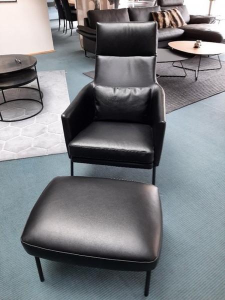 Contur Casoli-Sessel mit Hocker-227520-1