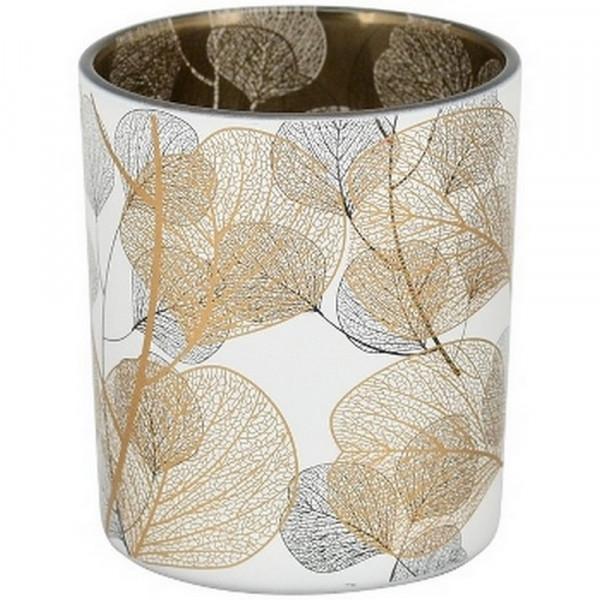 Teelichtglas-Teelichtglas m_ Blättern-228925-1