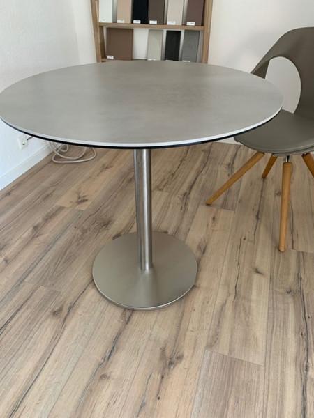 SOL H-75-Esstisch rund Keramikplatte-222476-1