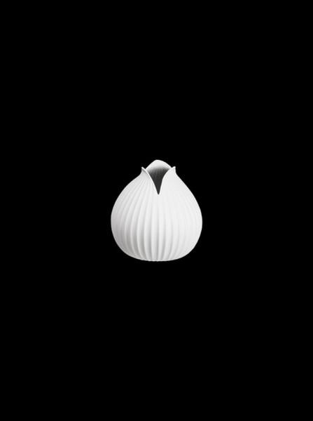 YOKO-Vase, weiß mit Rillenstruktur-230352-1