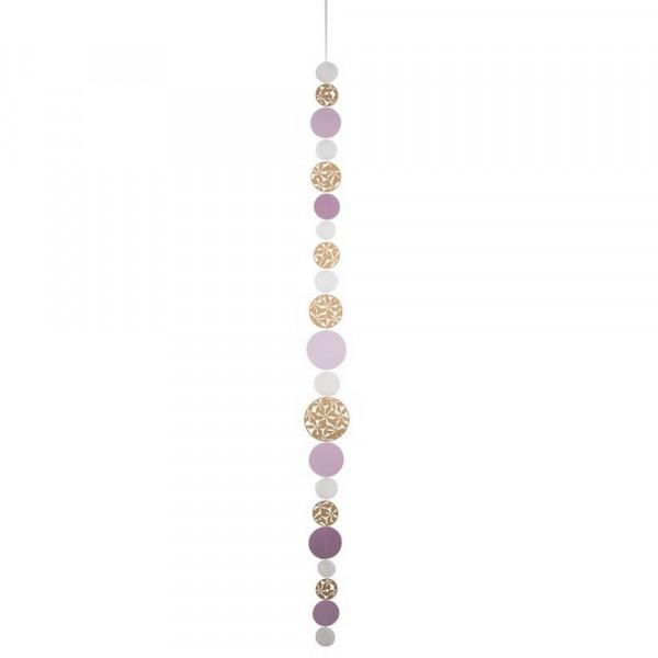 Kreiskette-Kreiskette gold, rosa-230798-1